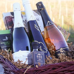 3 Bottle Gift Basket - Deluxe Sparkling